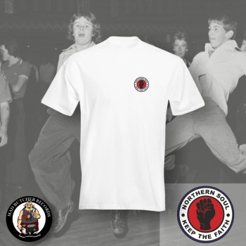 NORTHERN SOUL LOGO SMALL T-SHIRT S / White