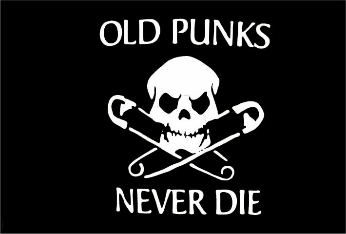 OLD PUNKS NEVER DIE FLAGGE