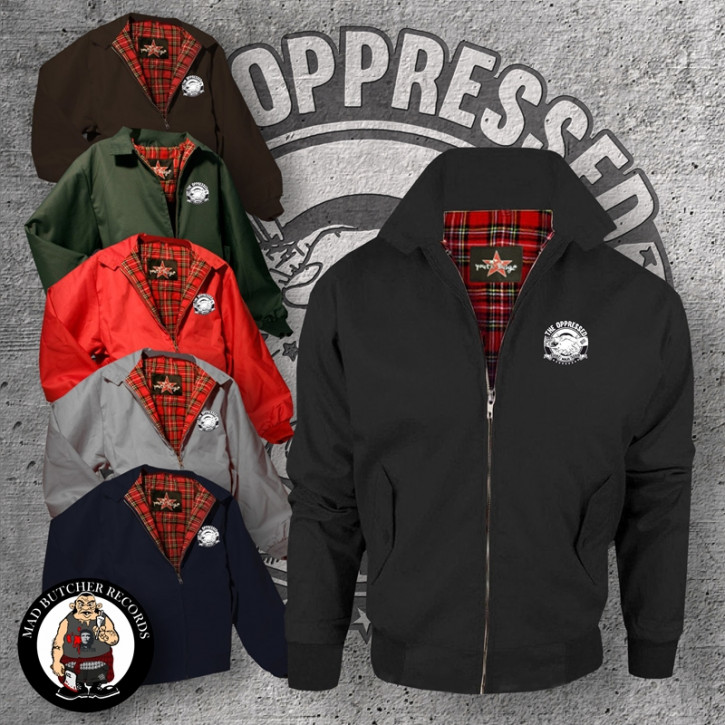 OPPRESSED FIGHT NAZI SCUM HARRINGTON JACKET