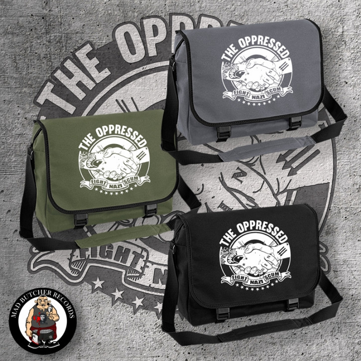 OPPRESSED FIGHT NAZI SCUM MESSENGER BAG