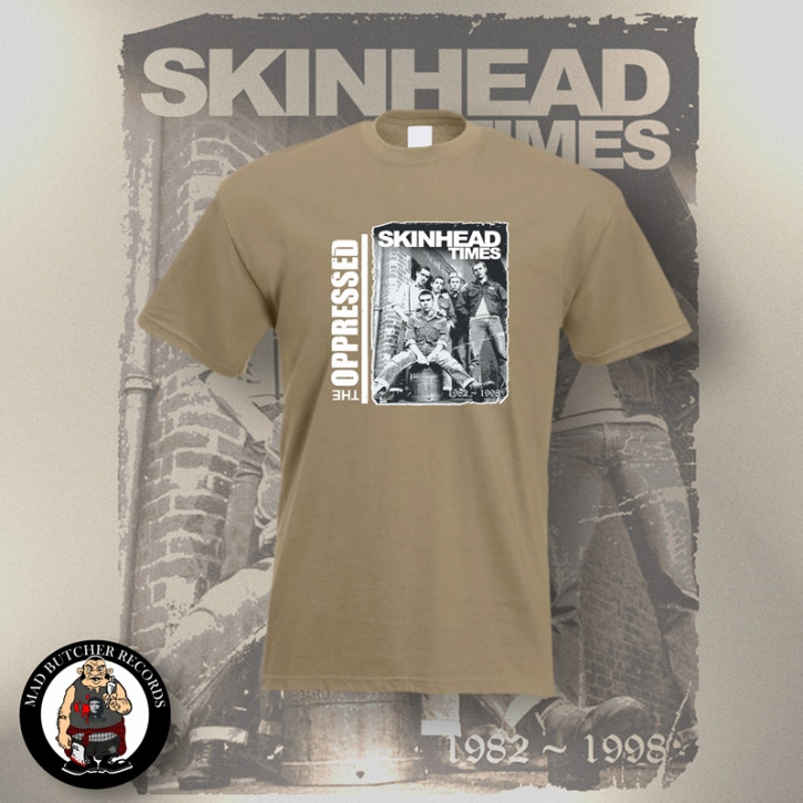 OPPRESSED SKINHEAD TIMES T-SHIRT S / BEIGE