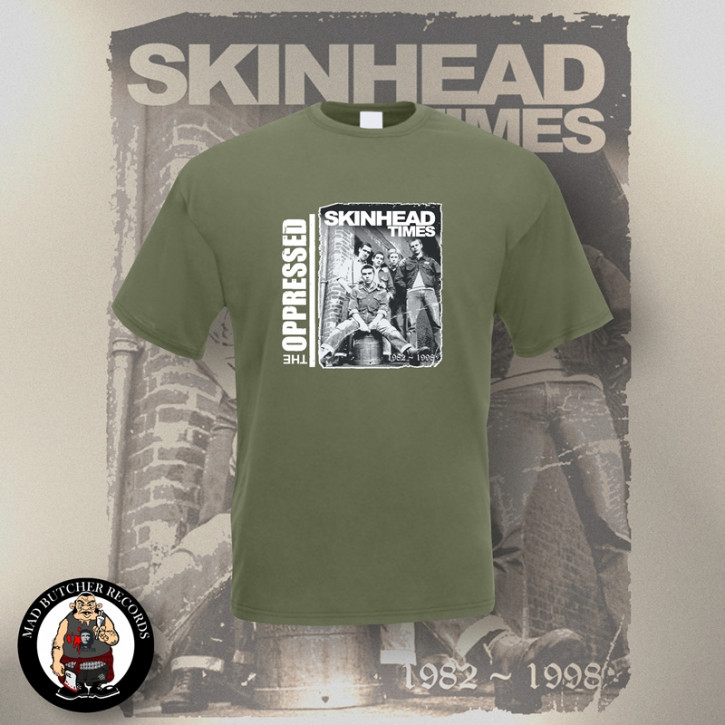 OPPRESSED SKINHEAD TIMES T-SHIRT XL / OLIVE