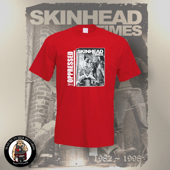 OPPRESSED SKINHEAD TIMES T-SHIRT S / ROT