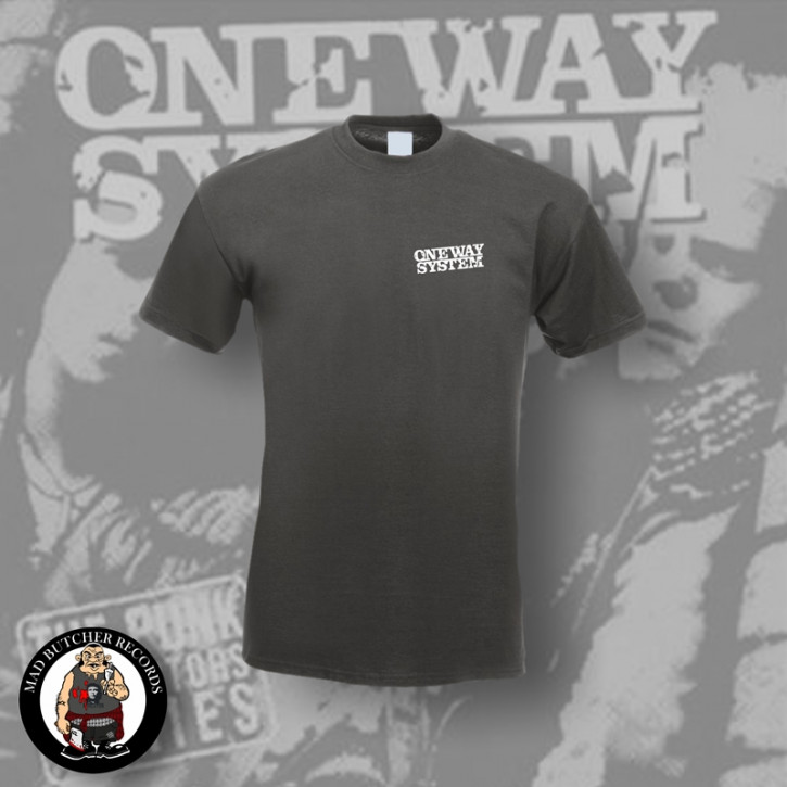 ONE WAY SYSTEM SMALL LOGO T-SHIRT S / DUNKELGRAU