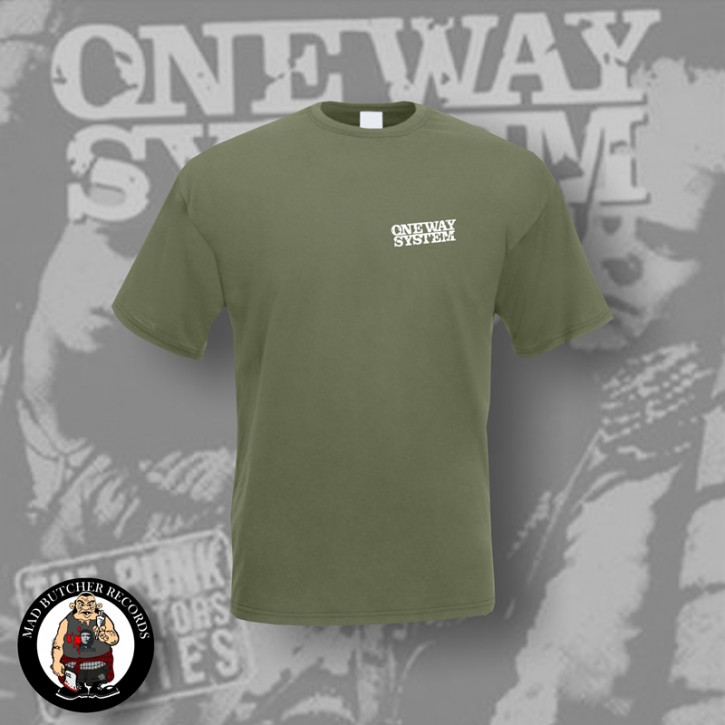 ONE WAY SYSTEM SMALL LOGO T-SHIRT XL / OLIVE