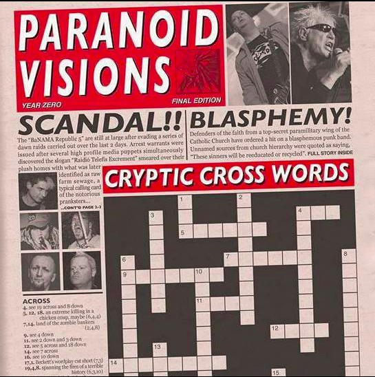 Paranoid Visions ‎– Cryptic Cross Words LP + CD