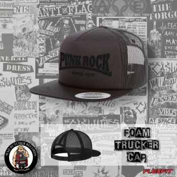 PUNKROCK SINCE 1977 BLACK ON BLACK MESH CAP