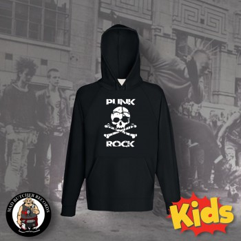 PUNK ROCK SKULL KIDS HOOD