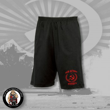 RED ACTION ANTIFA SHORTS