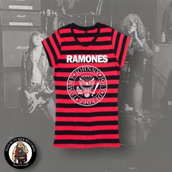 RAMONES LOGO GIRLIE L / RINGER RED/BLACK