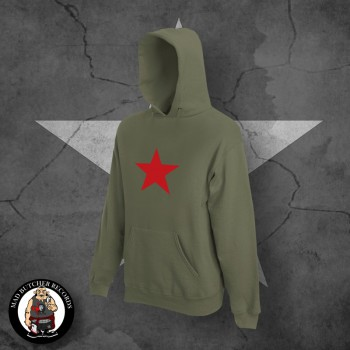 RED STAR HOOD XL / OLIVE