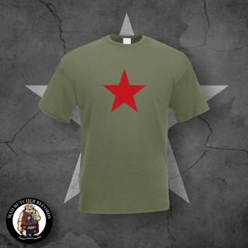 T-SHIRT RED STAR S / OLIVE