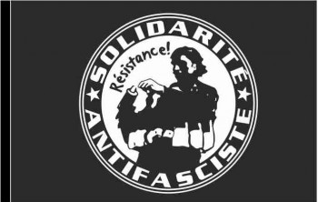 SOLIDARITE ANTIFASCISTE FLAG