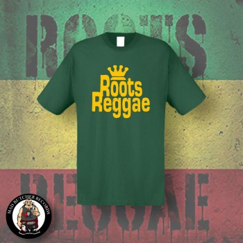 ROOTS REGGAE T-SHIRT M / BOTTLEGREEN