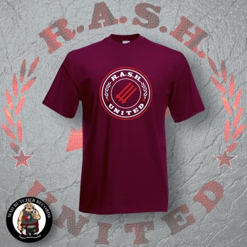 RASH UNITED T-SHIRT M / BORDEAUX RED