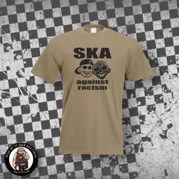 SKA AGAINST RACISM T-SHIRT S / BEIGE