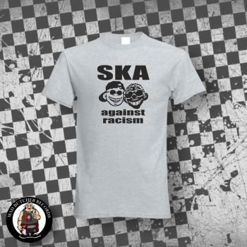 SKA AGAINST RACISM T-SHIRT S / GRAU