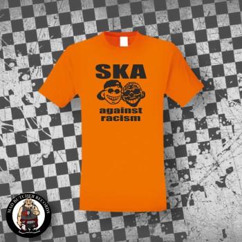 SKA AGAINST RACISM T-SHIRT L / ORANGE