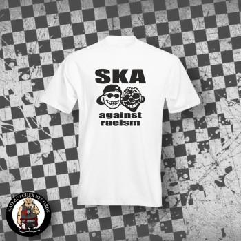 SKA AGAINST RACISM T-SHIRT S / WEISS