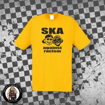 SKA AGAINST RACISM T-SHIRT S / GELB
