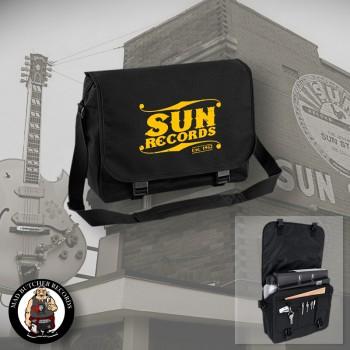SUN RECORDS MESSENGER BAG Black