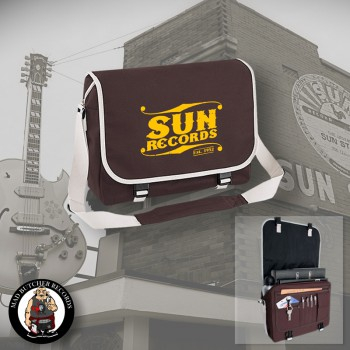 SUN RECORDS MESSENGER BAG brown