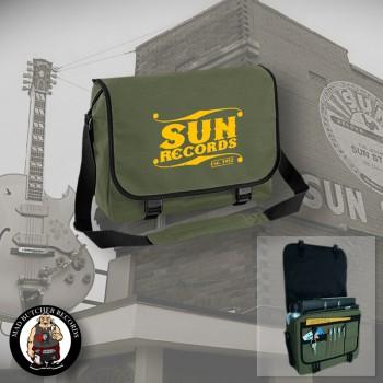 SUN RECORDS MESSENGER BAG OLIVE