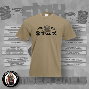 STAX OLD LOGO T-SHIRT XL / BEIGE