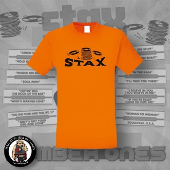STAX OLD LOGO T-SHIRT L / ORANGE