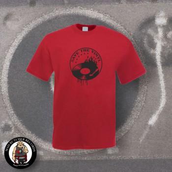 SAVE THE VINYL T-SHIRT (MULTI) M / BORDEAUX RED