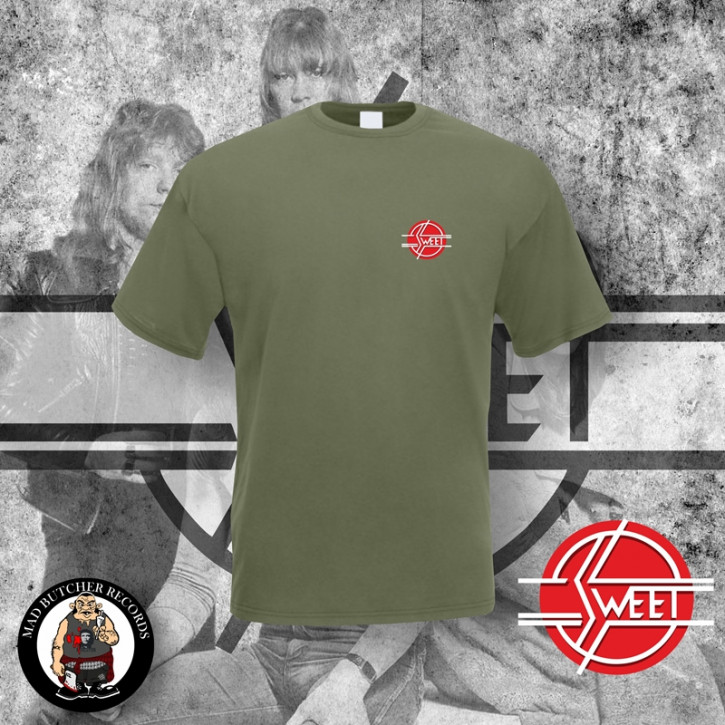 THE SWEET LOGO SMALL T-SHIRT XL / OLIVE