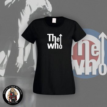 THE WHO B/W LOGO GIRLIE M