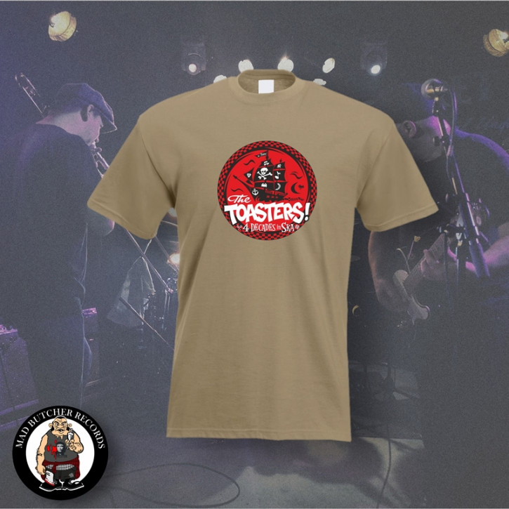 THE TOASTERS 4 DECADES IN SKA RED T-SHIRT M / BEIGE