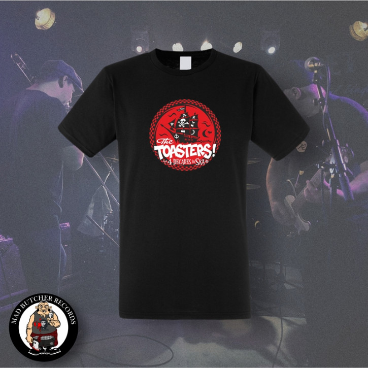 THE TOASTERS 4 DECADES IN SKA RED T-SHIRT SCHWARZ / XL