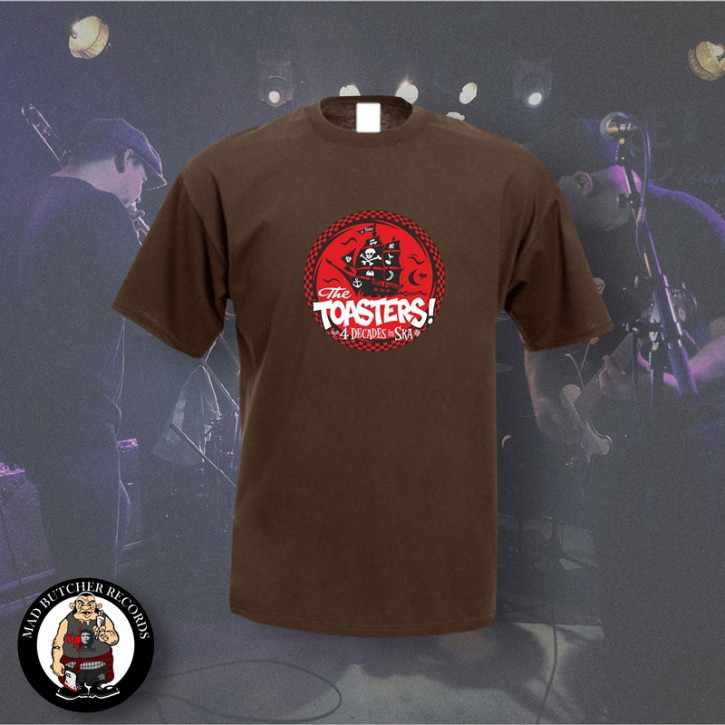 THE TOASTERS 4 DECADES IN SKA RED T-SHIRT XL / BRAUN