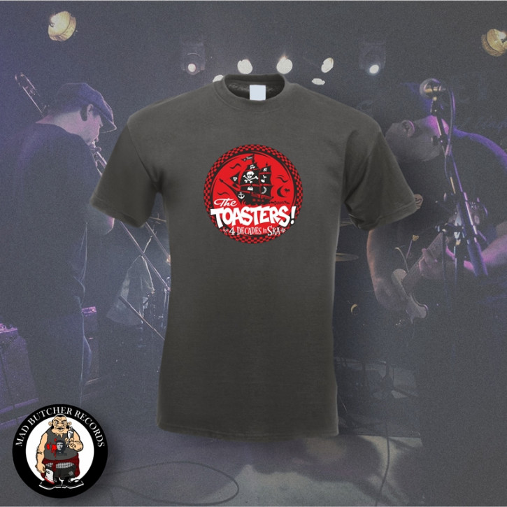 THE TOASTERS 4 DECADES IN SKA RED T-SHIRT M / DUNKELGRAU