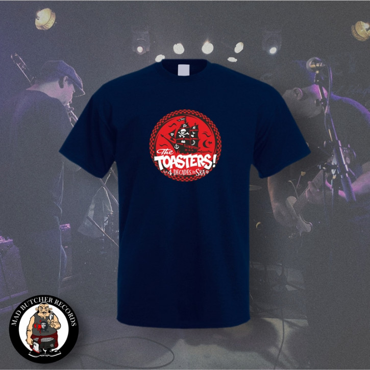 THE TOASTERS 4 DECADES IN SKA RED T-SHIRT XL / NAVY