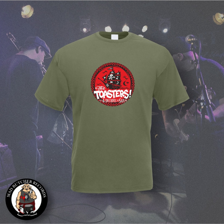 THE TOASTERS 4 DECADES IN SKA RED T-SHIRT XL / OLIVE