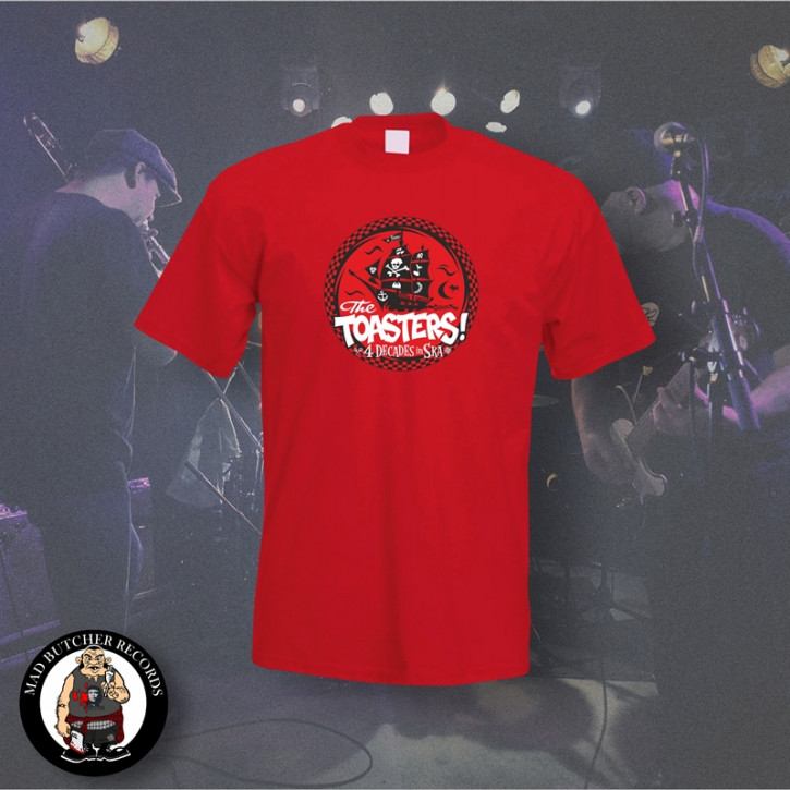 THE TOASTERS 4 DECADES IN SKA RED T-SHIRT M / ROT