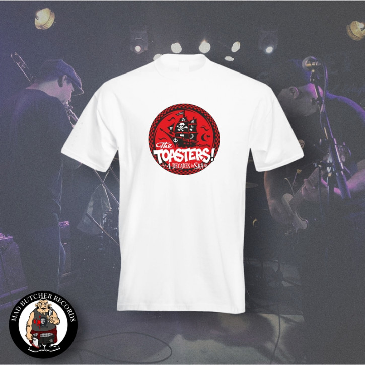 THE TOASTERS 4 DECADES IN SKA RED T-SHIRT M / WEISS