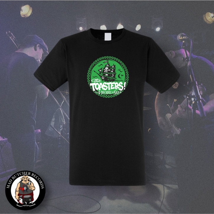 THE TOASTERS 4 DECADES IN SKA GREEN T-SHIRT SCHWARZ / S