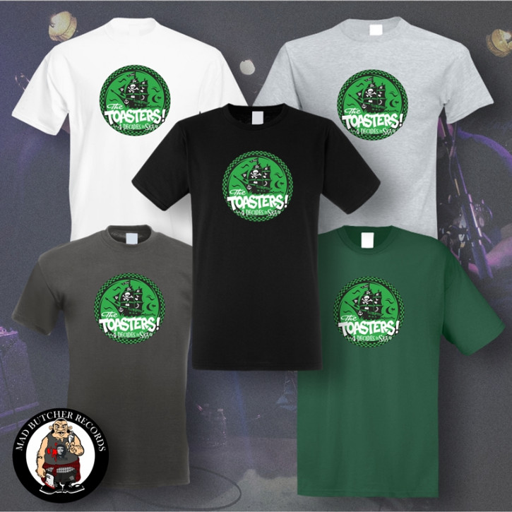 THE TOASTERS 4 DECADES IN SKA GREEN T-SHIRT