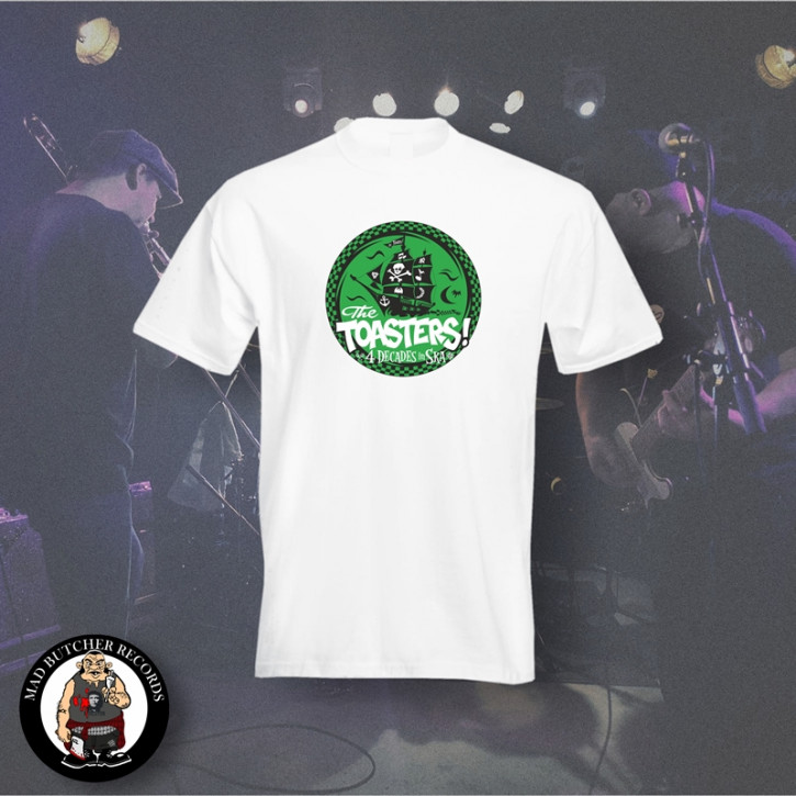 THE TOASTERS 4 DECADES IN SKA GREEN T-SHIRT S / WEISS