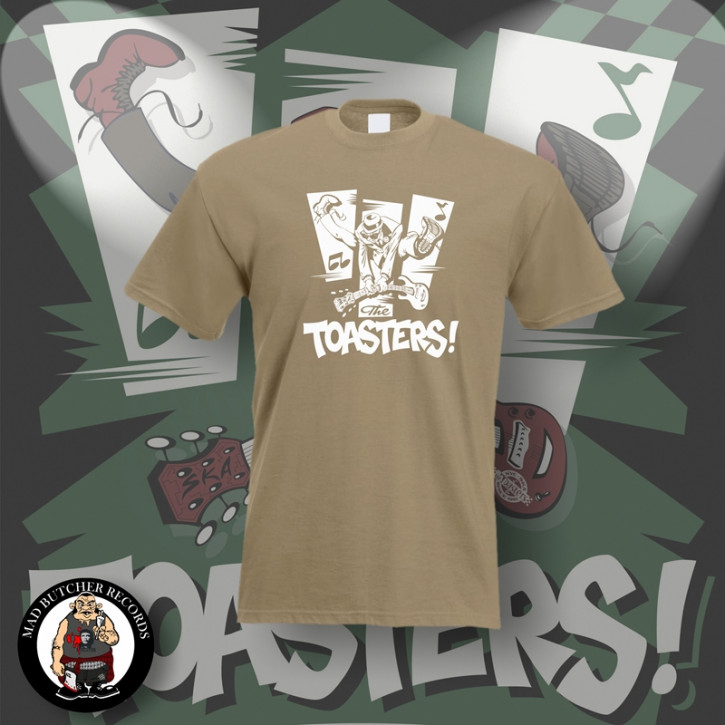THE TOASTERS JUMP T-SHIRT S / BEIGE