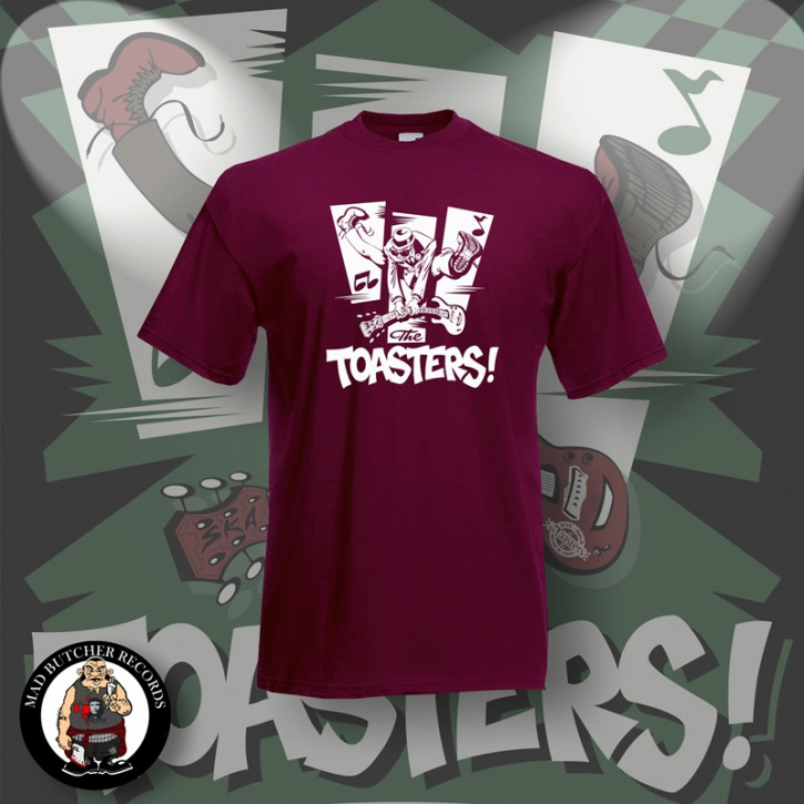 THE TOASTERS JUMP T-SHIRT S / BORDEAUX ROT