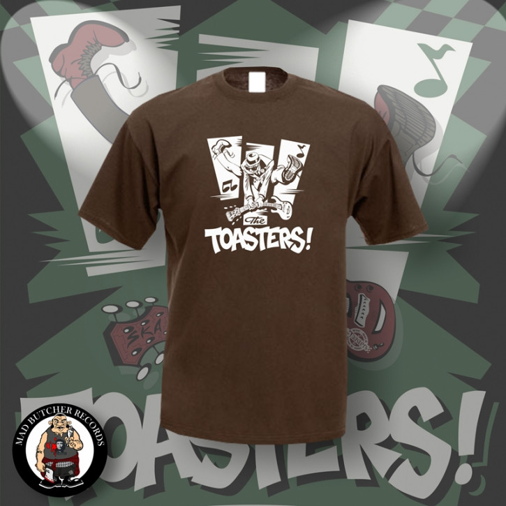 THE TOASTERS JUMP T-SHIRT S / BRAUN