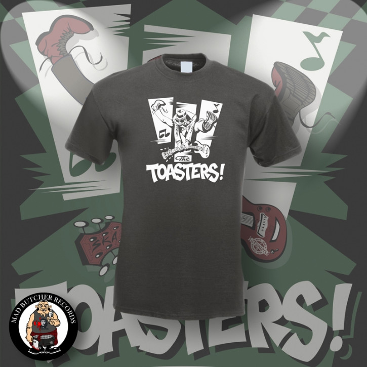 THE TOASTERS JUMP T-SHIRT S / DUNKELGRAU