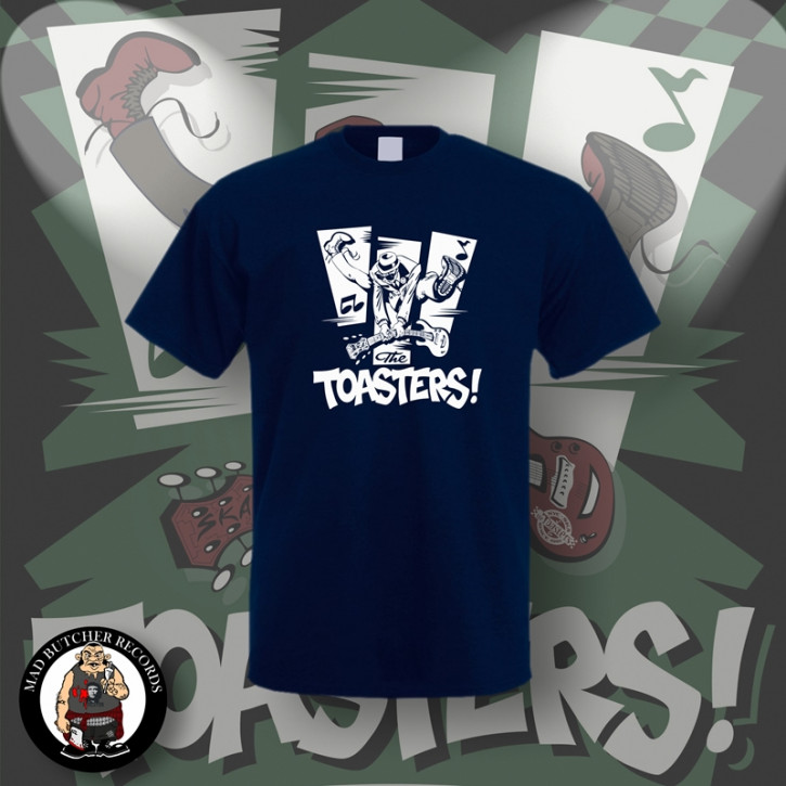 THE TOASTERS JUMP T-SHIRT L / NAVY