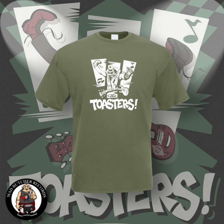 THE TOASTERS JUMP T-SHIRT L / OLIVE