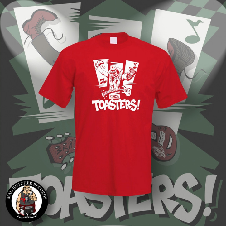 THE TOASTERS JUMP T-SHIRT L / ROT